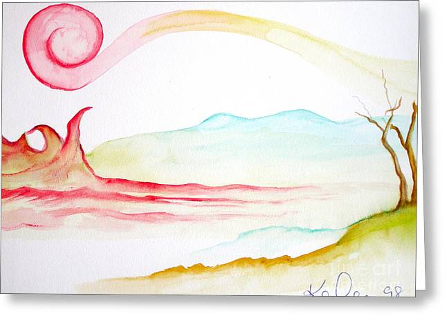 Top Seller Greeting Cards - Earth Wind Fire and Water Greeting Card by Kate Lomax