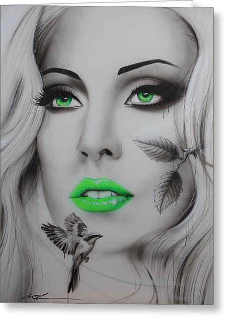 Lady Gaga Paintings Greeting Cards - EarthBound Greeting Card by Christian Chapman Art