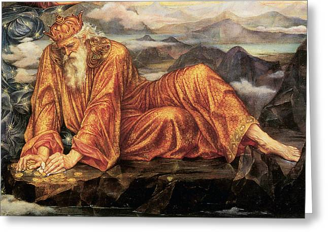 Evelyn De Greeting Cards - Earthbound Detail Greeting Card by Evelyn de Morgan