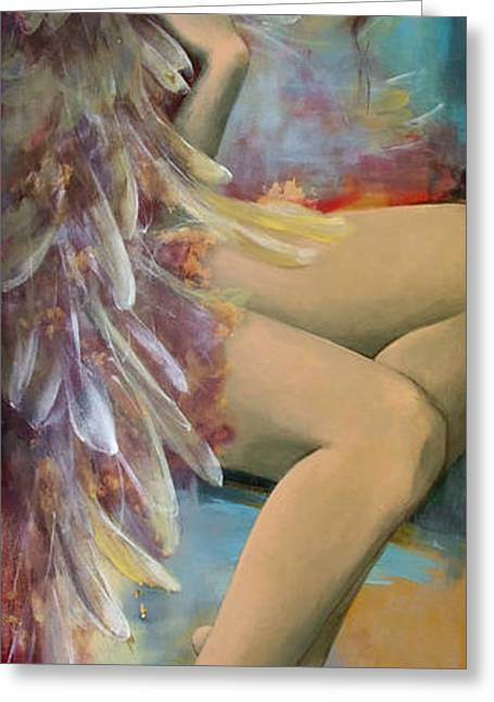 Angel Blues Greeting Cards - Earthly feelings Greeting Card by Dorina  Costras