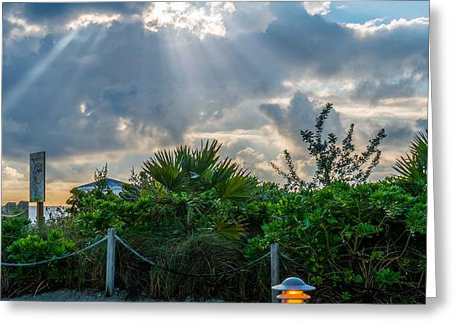 Earthly Light and Heavenly Light  Greeting Card by Ian Monk