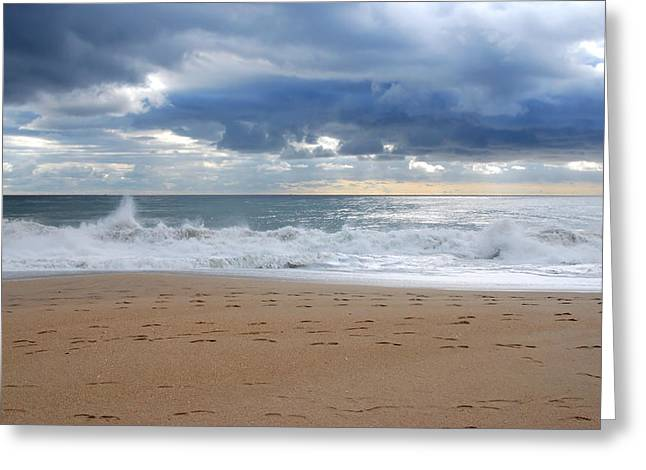 Earth's Layers - Jersey Shore Greeting Card by Angie Tirado