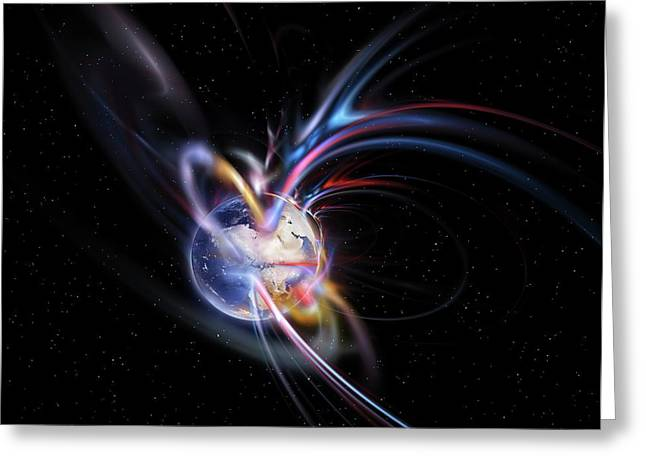 Earth's Magnetosphere Greeting Card by Equinox Graphics
