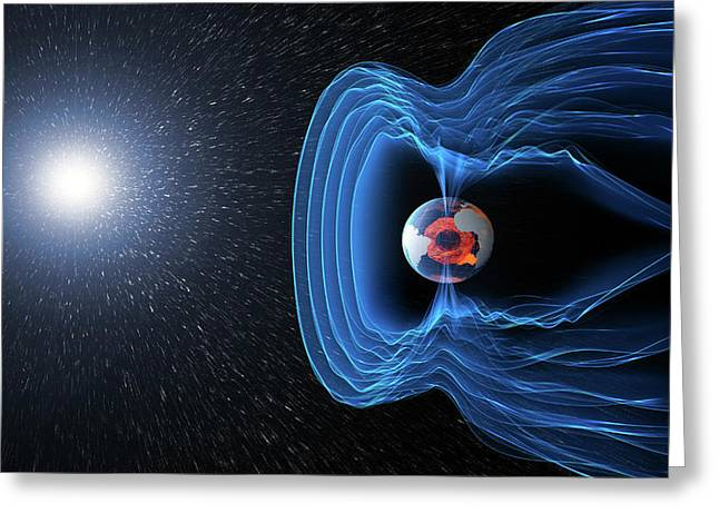 Earth's Magnetosphere Greeting Card by Esa/atg Medialab