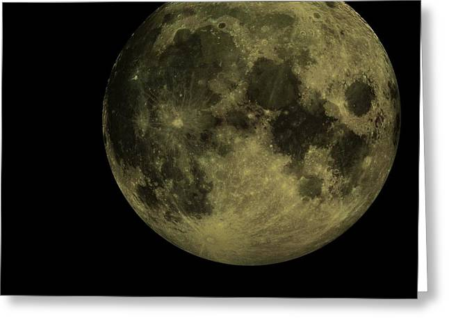 Moon Beach Digital Art Greeting Cards - Earths Moon and Venus Greeting Card by David Dehner