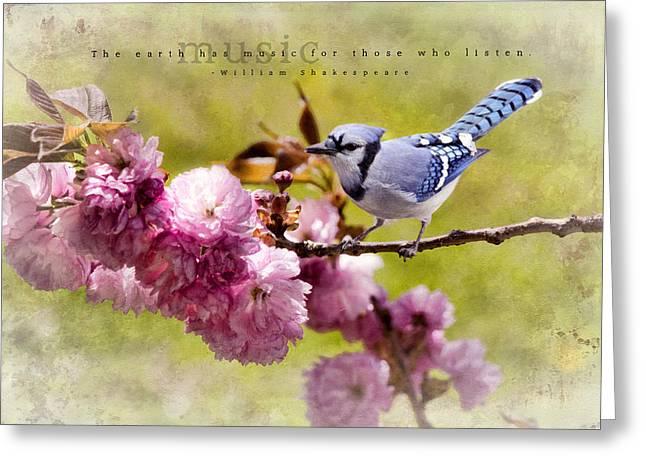 Kathy Jennings Photography Greeting Cards - Earths Music Greeting Card by Kathy Jennings