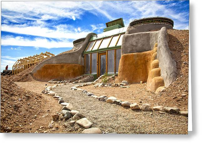 Off The Grid Greeting Cards - Earthship Taos  Greeting Card by Shanna Gillette