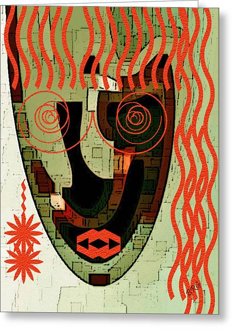Earthy Woman Greeting Card by Ben and Raisa Gertsberg