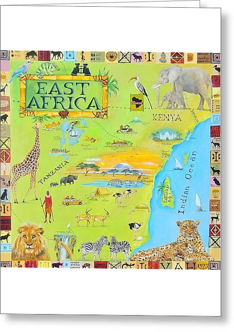 East Africa Greeting Card by Virginia Ann Hemingson