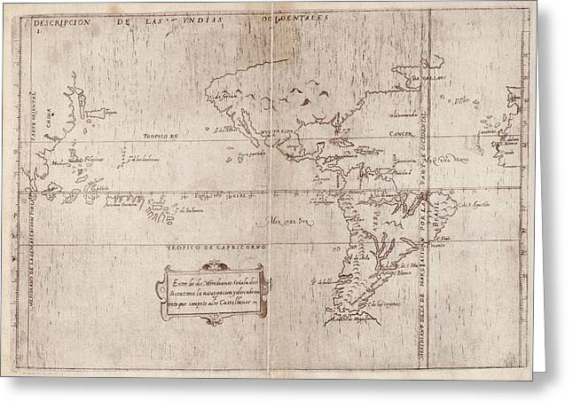 East And West Indies Greeting Card by Library Of Congress, Geography And Map Division
