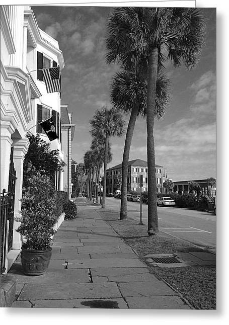 The Battery Greeting Cards - East Bay St. Greeting Card by Laura Parrish
