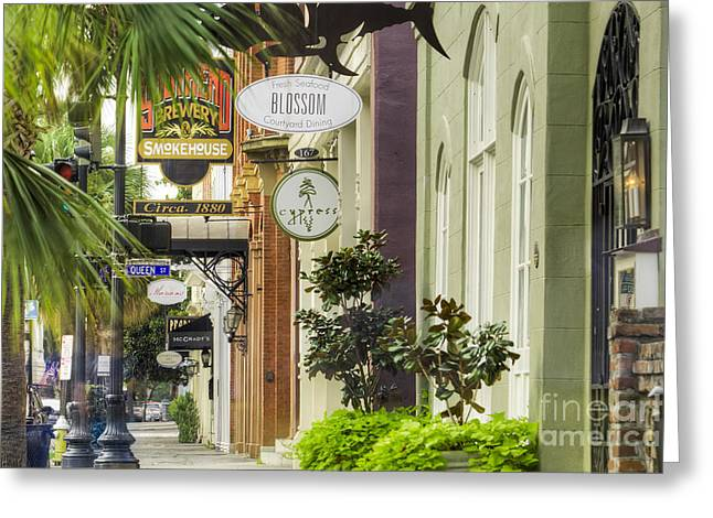 Sc Greeting Cards - East Bay Street Charleston SC Greeting Card by Dustin K Ryan