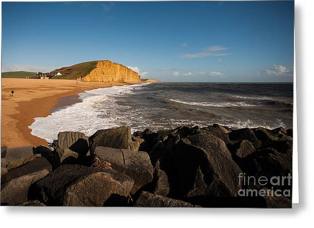 Making Beer Greeting Cards - East beach  Greeting Card by Daniel  Bristow