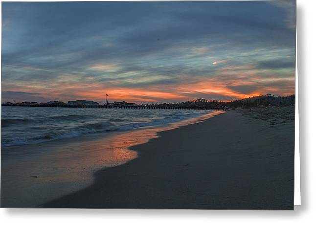 Santa Barbara Greeting Cards - East Beach Santa Barbara Greeting Card by Jeremy Jensen