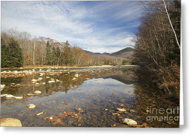 White River Scene Greeting Cards - East Branch of the Pemigewasset River - Lincoln New Hampshire Autumn Greeting Card by Erin Paul Donovan