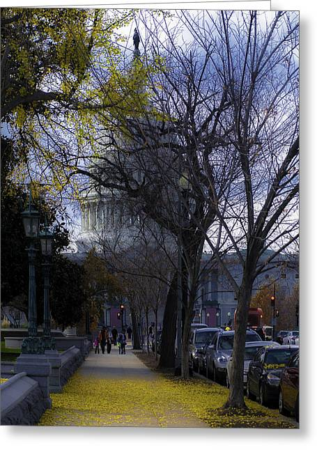 Colrful Greeting Cards - East Capitol Street Greeting Card by Nestor Cortesi