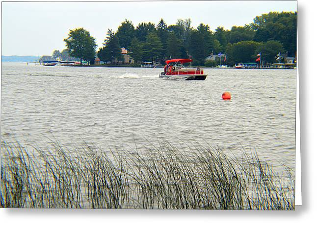 Fed Greeting Cards - East Cove Lake Wawasee Greeting Card by Tina M Wenger
