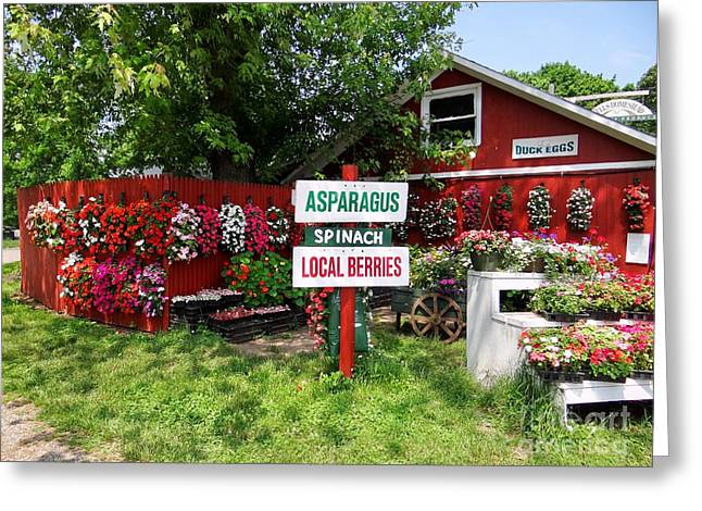 East End Farmstand Greeting Card by Ed Weidman