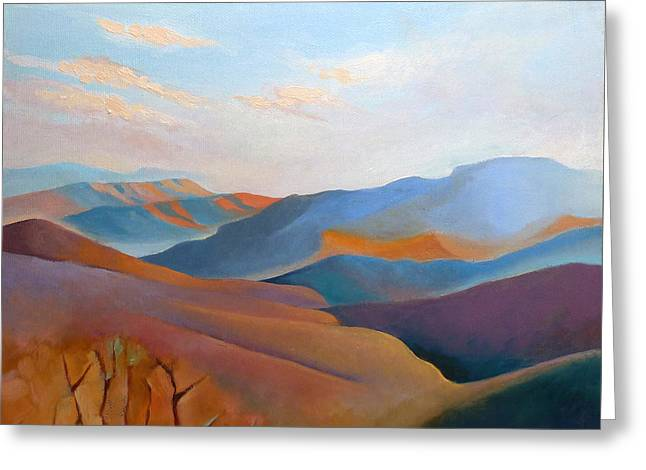 East Fall Blue Ridge No.3 Greeting Card by Catherine Twomey