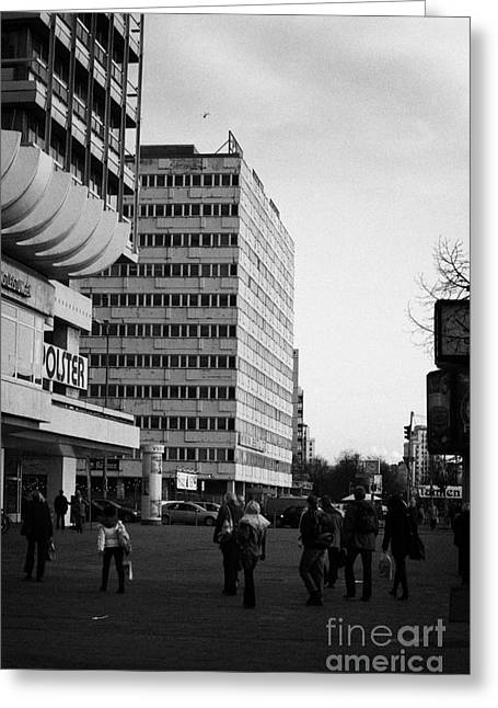 Berlin Germany Greeting Cards - east german communist construction buildings on Karl-Marx-Allee Berlin Germany Greeting Card by Joe Fox