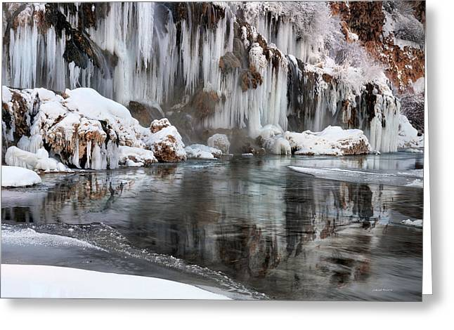 Pouring Greeting Cards - East Idaho Winter Greeting Card by Leland D Howard