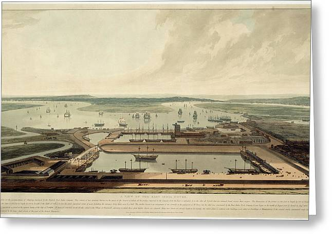 East India Docks Greeting Card by British Library