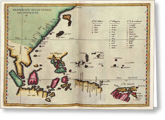 East Indies Greeting Card by Library Of Congress, Geography And Map Division