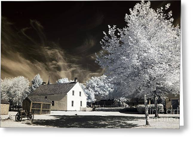 Old School House Greeting Cards - East Jersey Olde Towne Village Greeting Card by John Rizzuto