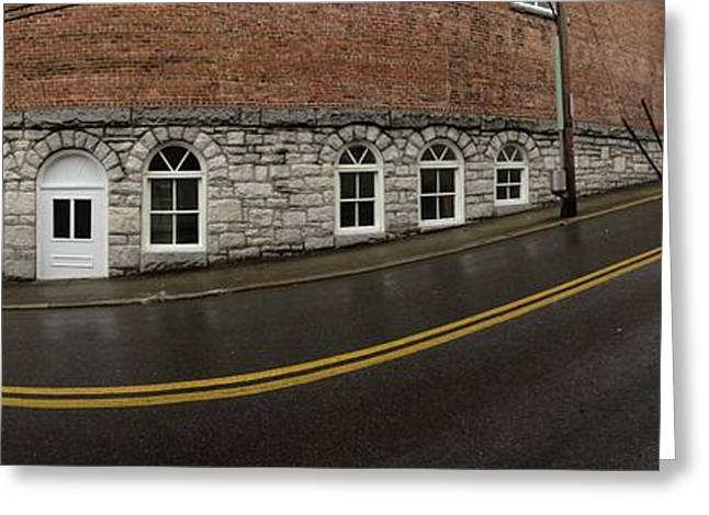 Andy Griffith Greeting Cards - East Oak St Mount Airy NC Greeting Card by Greg Joens