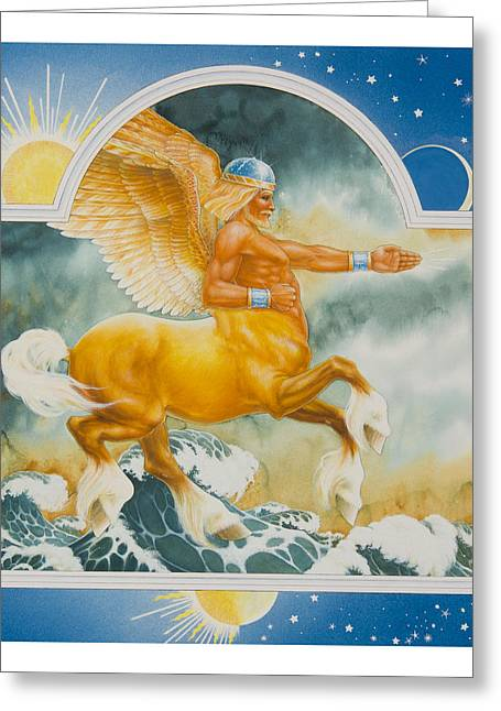Vikings Paintings Greeting Cards - East of the Sun West of the Moon Greeting Card by Lynn Bywaters