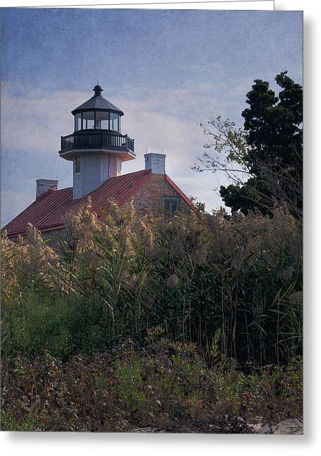 Lookout Tower Greeting Cards - East Point Lighthouse Greeting Card by Joan Carroll