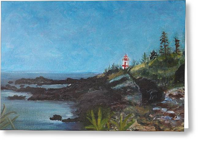 Campobello Island Greeting Cards - East Quoddy Head Lighthouse Greeting Card by Donna Walsh
