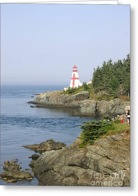 East Quoddy Lighthouse Greeting Cards - East Quoddy Head Lighthouse Greeting Card by Victoria  Dauphinee