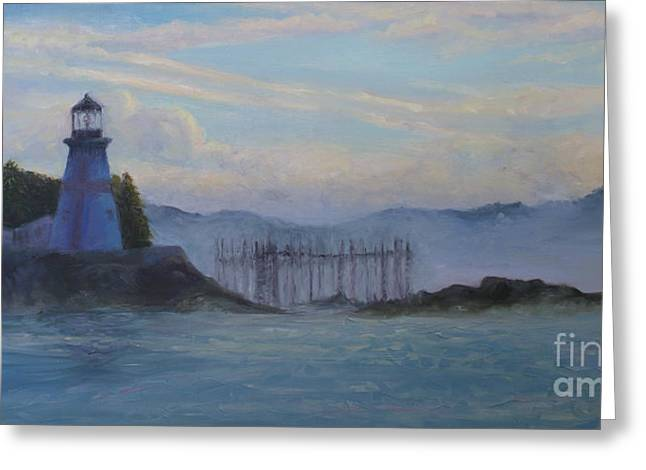East Quoddy Lighthouse Greeting Cards - East Quoddy Light Greeting Card by Julie Hart