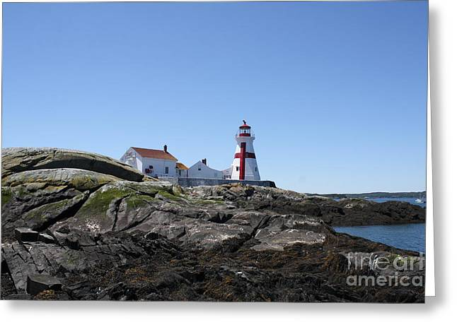Cape Neddick Greeting Cards - East Quoddy Lighthouse 2 Greeting Card by Joseph Marquis