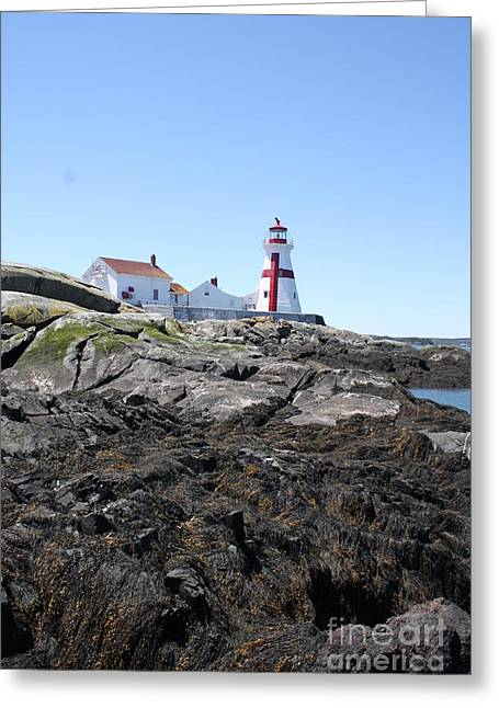 Cape Neddick Greeting Cards - East Quoddy Lighthouse 3 Greeting Card by Joseph Marquis