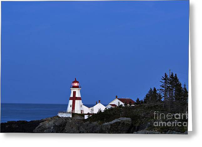 East Quoddy Lighthouse Greeting Cards - East Quoddy Lighthouse - D002160 Greeting Card by Daniel Dempster