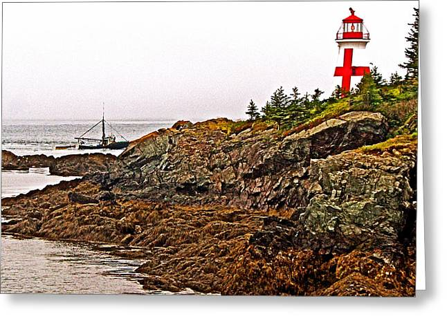 East Quoddy Lighthouse Greeting Cards - East Quoddy Lighthouse on Campobello Island-New Brunswick  Greeting Card by Ruth Hager
