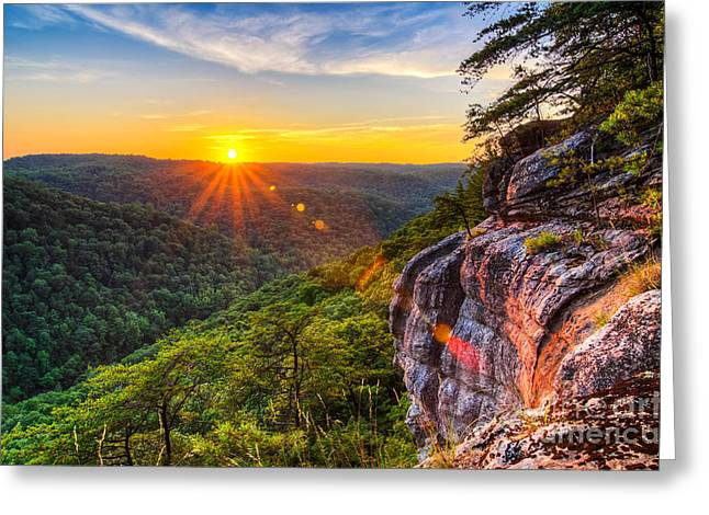 Tn Greeting Cards - East Rim sunset Greeting Card by Anthony Heflin
