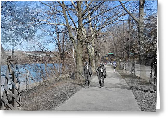 East River Drive Greeting Cards - East River Drive Walk Greeting Card by Eric Nagy