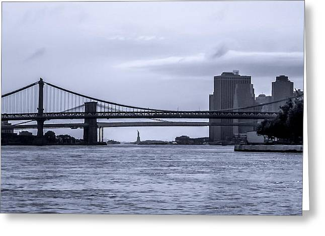 Manhattanbridge Greeting Cards - East River Greeting Card by Wilson Carvalho