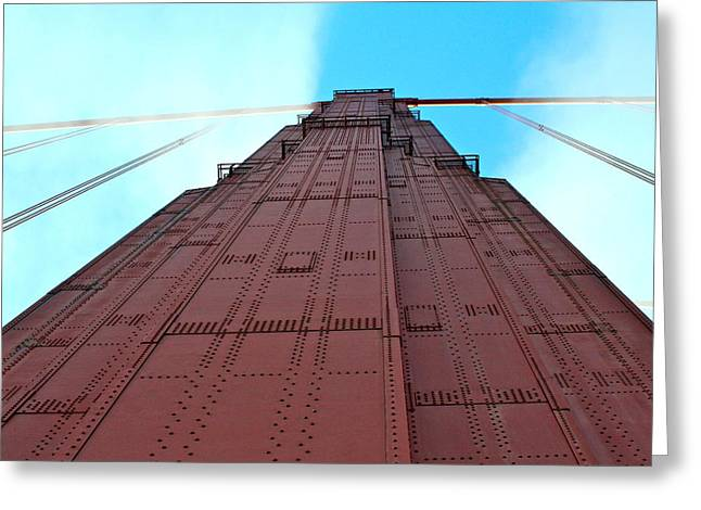 White Pyrography Greeting Cards - East Side of the South Tower Greeting Card by DUG Harpster