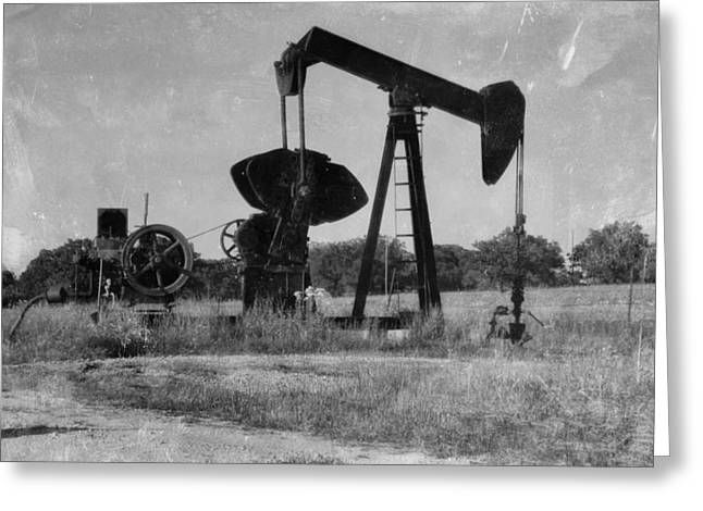 Power Plants Mixed Media Greeting Cards - East Texas Pump Jack 3 Greeting Card by Todd and candice Dailey