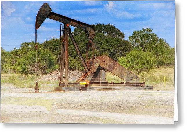 Power Plants Mixed Media Greeting Cards - East Texas Pump Jack 4 Greeting Card by Todd and candice Dailey