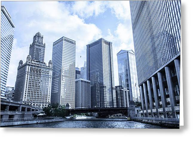 Irv Greeting Cards - East Wacker Drive Greeting Card by Semmick Photo