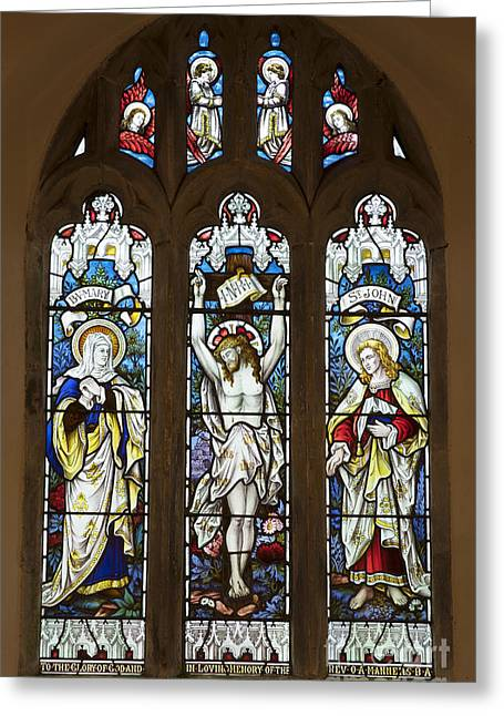 The North Greeting Cards - East Window All Saints Hawnby UK Greeting Card by John Potter