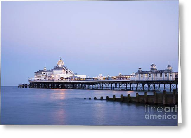 Breakwater Greeting Cards - Eastbourne Pier at Twilight Greeting Card by Colin and Linda McKie