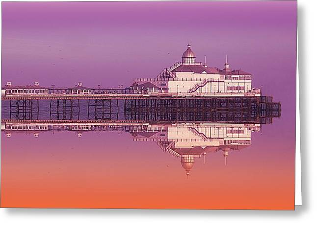 Seaside Digital Greeting Cards - Eastbourne pier Greeting Card by Sharon Lisa Clarke