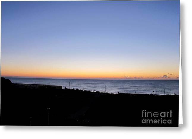 Art Photography Greeting Cards - Eastbourne Sunset Greeting Card by Art Photography