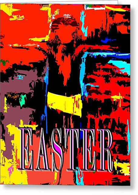 Religious Mixed Media Greeting Cards - Easter 12 Greeting Card by Patrick J Murphy